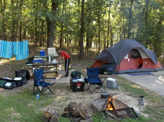 Kaiser, Missouri: Campsite