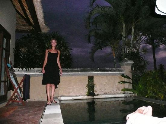 Villa Semana: bain du soir