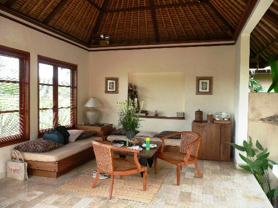 Villa Semana: notre salon en plein air