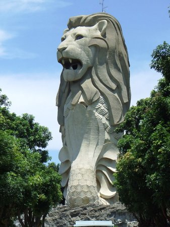 Isola di Sentosa, Singapore: Giant Merlion on Sentosa Island