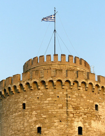 Thessaloniki, Griekenland: Top of the tower