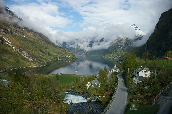 Hotel Union Geiranger: View from our room at the Union Hotel