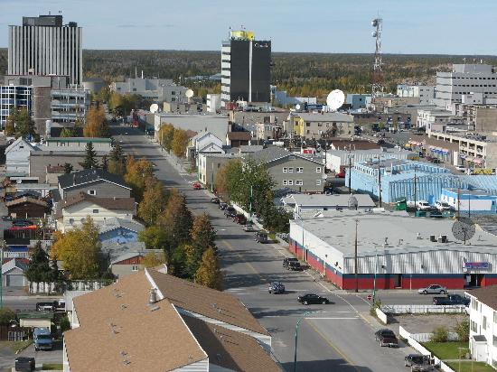 Coast Fraser Tower: downton Yellowknife
