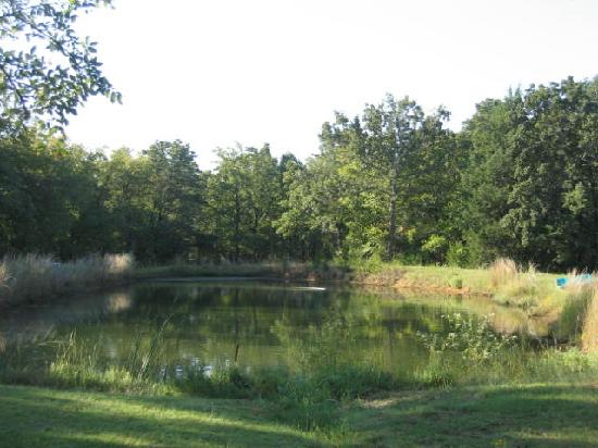 Country Place at Cross Roads Bed and Breakfast: Relax by the pond and watch the sun set