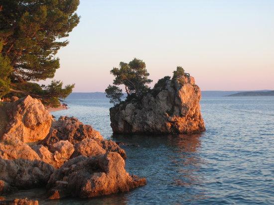 The famous Brela Rock