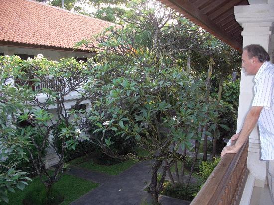 Puri Raja: Garden view from balcony