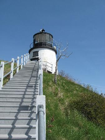 LimeRock Inn : Two lighthouses in Rockland plus the lighthouse museum. This is Owl's Head Lighthouse.