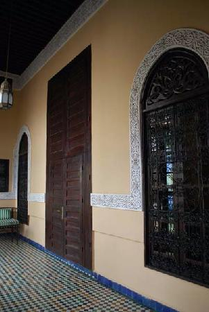 Riad Fes Baraka: door to our room