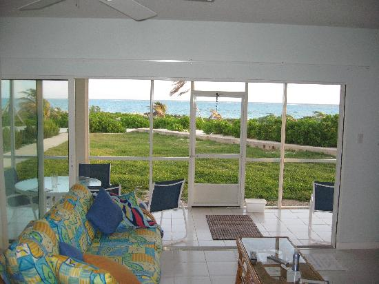 The Retreat at Rum Point: View from the livingroom