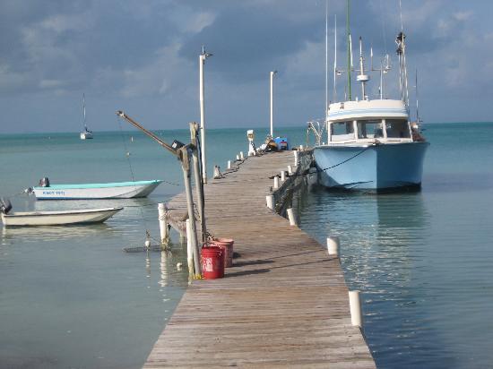 Neptune's Treasure : Neptune's Dock with lovely blue fishing boat