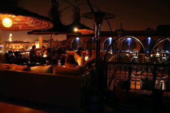 Riad Dar One: Kozi Bar rooftop bar, 5 mins walk away