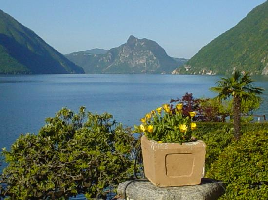 Lake Lugano From Hotel Stella D Italia