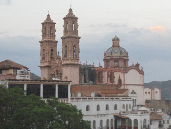 View of the Santa Prisca Church from our balcony.