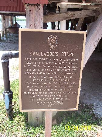 Chokoloskee, ฟลอริด้า: Smallwood Historical Marker