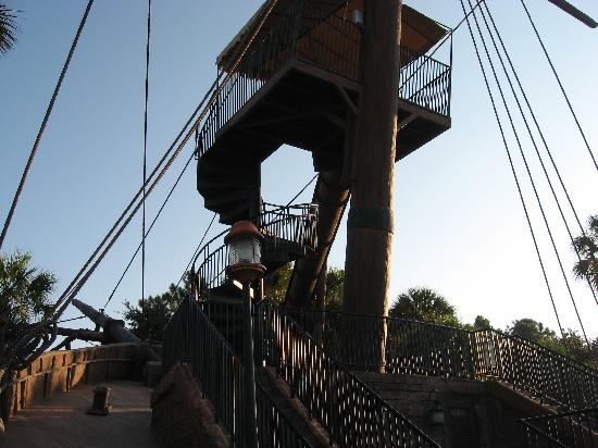 Disney's Beach Club Resort: Pirate ship slide stairs