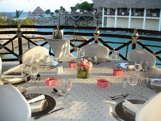 Occidental At Xcaret Destination Table Ready For Wedding Reception