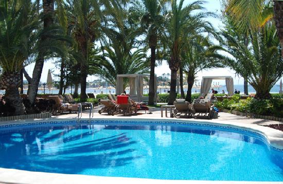 Vanity Hotel Golf: View across pool area to beach