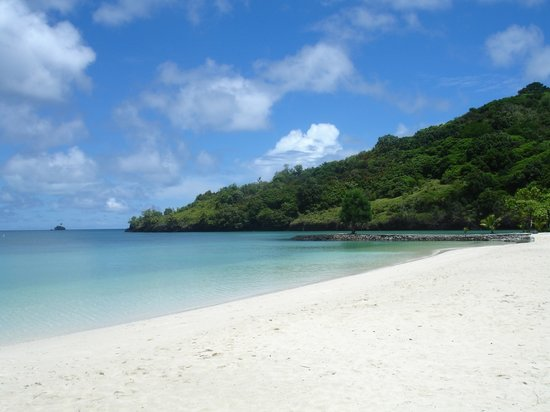 Palau Pacific Resort: View from PPR beach