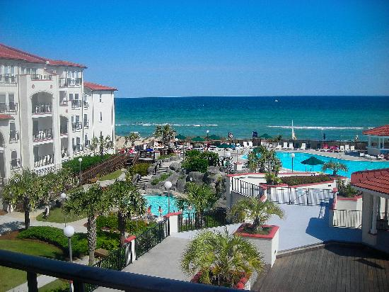 Topsail Island: View from our balcony, Unit 301-B (Treasure Realty)