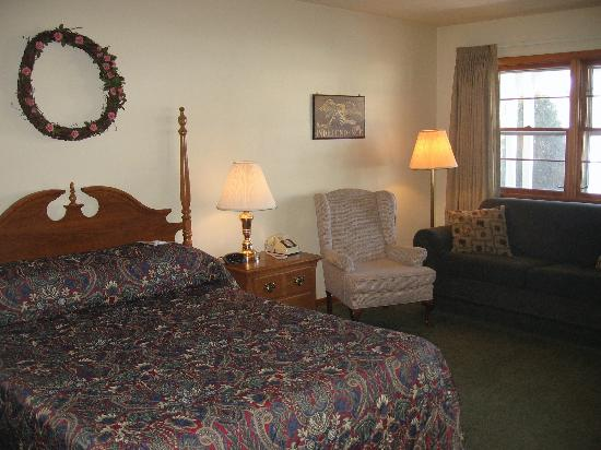 Glass House Inn: motel room