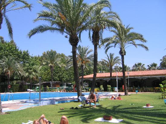 Pool area at Camping Marbella Playa