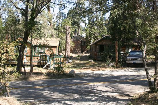 Cabin grounds picture of arrowhead pine rose cabins for Cabins in lake arrowhead ca