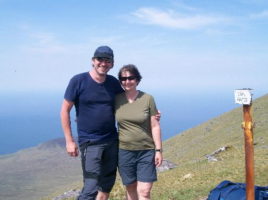 Mount Brandon: Hikers from Austria, doing the Dingle Way