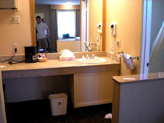The bathroom picture of best western plus pavilions for Best western bathrooms