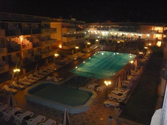 Balcony view at night picture of zante maris hotel for Balcony at night