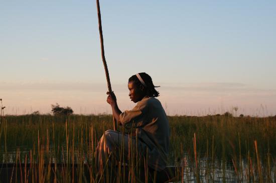 Okavango Delta, Botswana: sunset in okavango