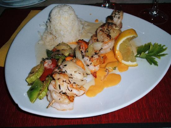 Bar and Restaurant Agapanto: Restaurant Agapanto - Duo (duet of scallops and king prawns, lobster cream and basmati rice.)