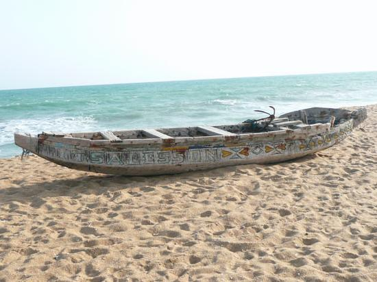 Grand Popo, Benin: Fishing Boat on the Beach
