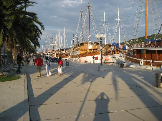 Villa Sv. Petar: The sailing ships docking overnight at Trogir's Riva