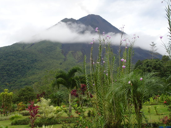 View of Arenal Volcano from Los Logos Hotel
