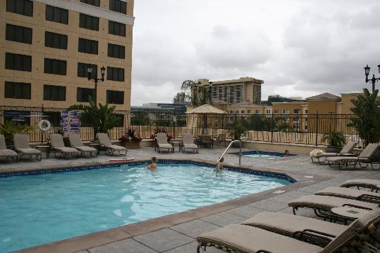 hotel pool and hot tub from above picture of doubletree. Black Bedroom Furniture Sets. Home Design Ideas