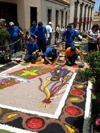 La Orotava, España: One of the floral carpets