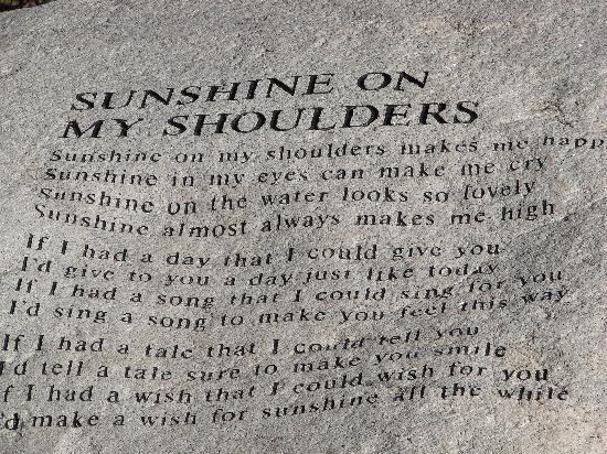 The John Denver Sanctuary: Sunshine on my shoulders