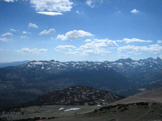 Mammoth Lakes, CA: Another toward Yosemite & the Minarets, off the top trail (winding) & Kamakazi (dirt road)