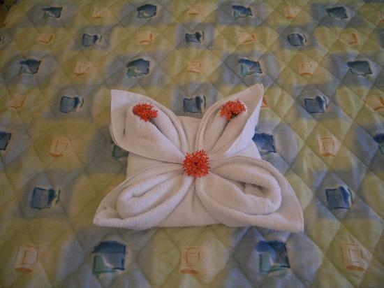 Hotel Cocal & Casino: The pleasant towel surprises we came home to everyday