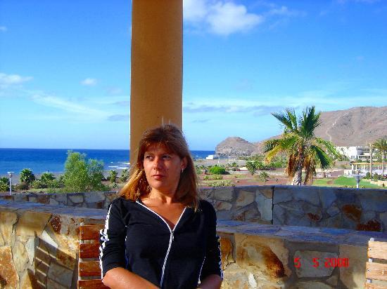 Playitas Hotel: Desayunando en la terraza.