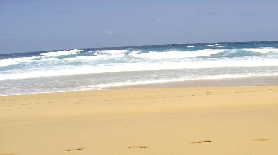 Playa de Cofete: Desde la playa, que arena y vaya olas!!!.