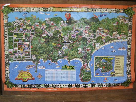 Hotel La Posada: Map of Manuel Antonio