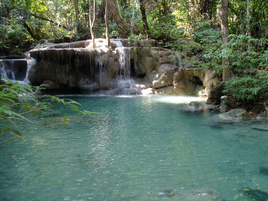 Erawan National Park, Thailand: the water is beautiful