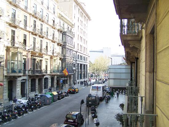 View from our balcony picture of hotel regina barcelona for Hotel regina barcelona booking