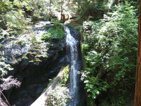 Mendocino, Californië: Waterfall