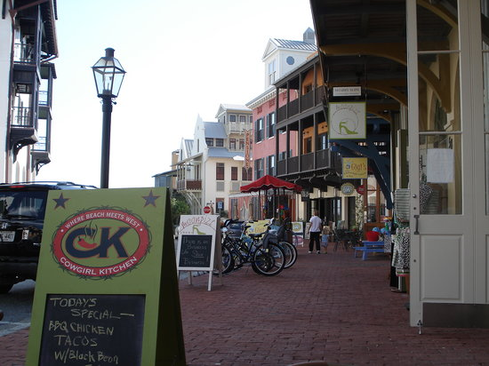 Rosemary Beach, FL: View from patio at Cowgirl Kitchen