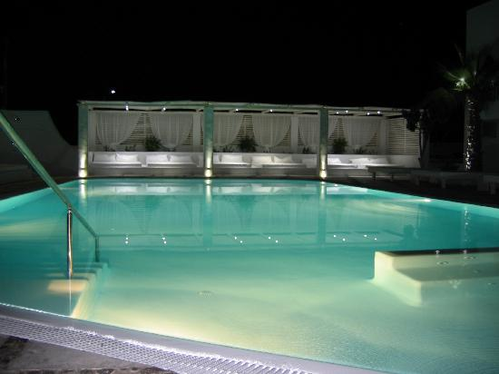 Hotel 28: The pool at Night