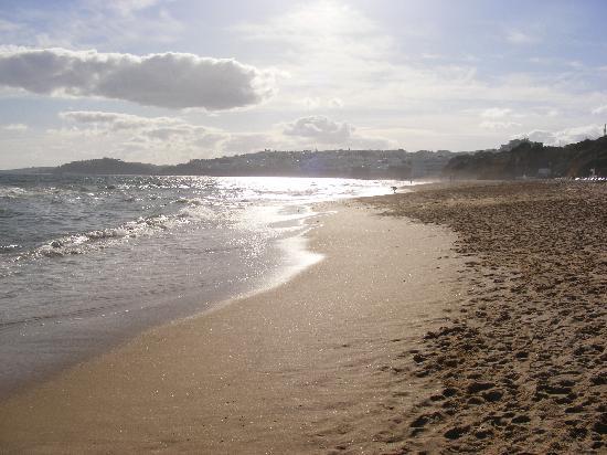 Elma Apartments: Beach, looking towards Albufeira