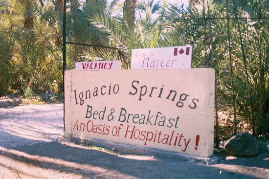 San Ignacio, Mexique : Ignacio Springs Bed & Breakfast.