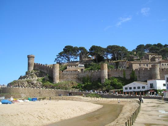 Hotel Cap d'Or : Le château et l'hôtel à son pied